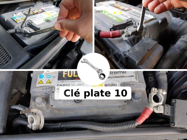 Débrancher batterie A4