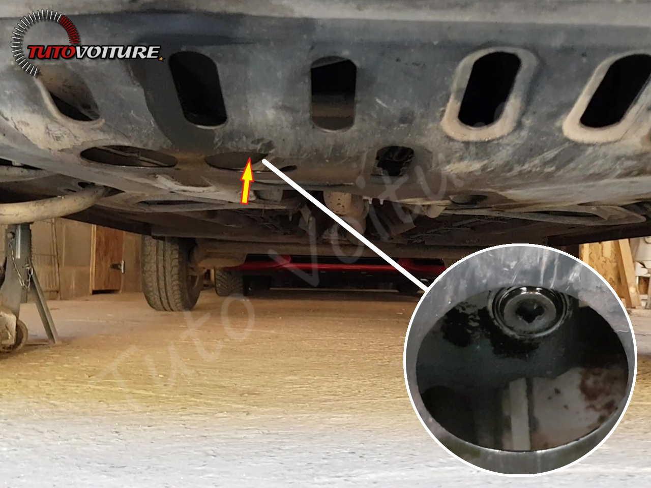 Trouver le bouchon de vidange- Renault Clio 2