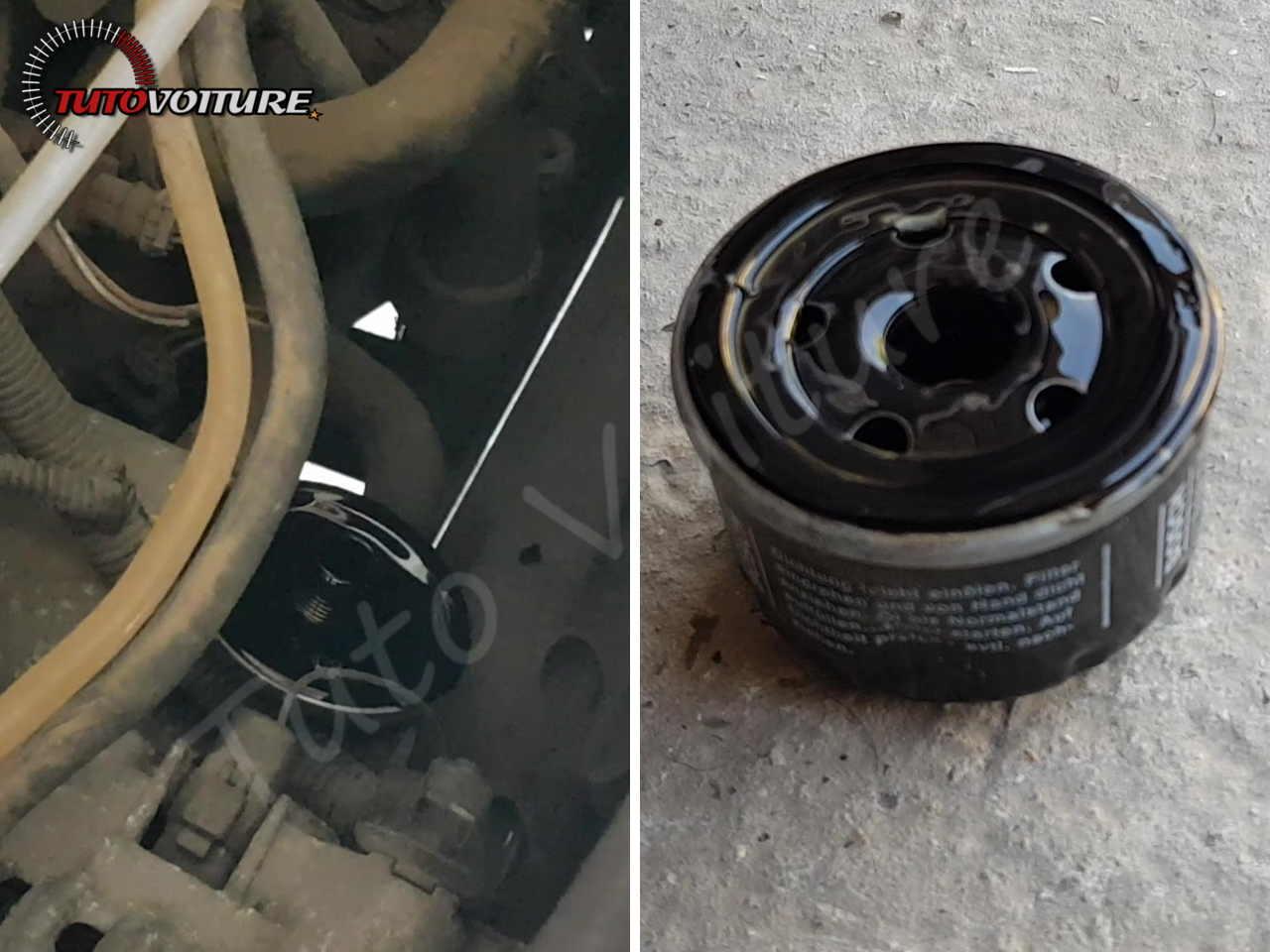 Nettoyer la surface d'appui du filtre à huile - Renault Clio 2
