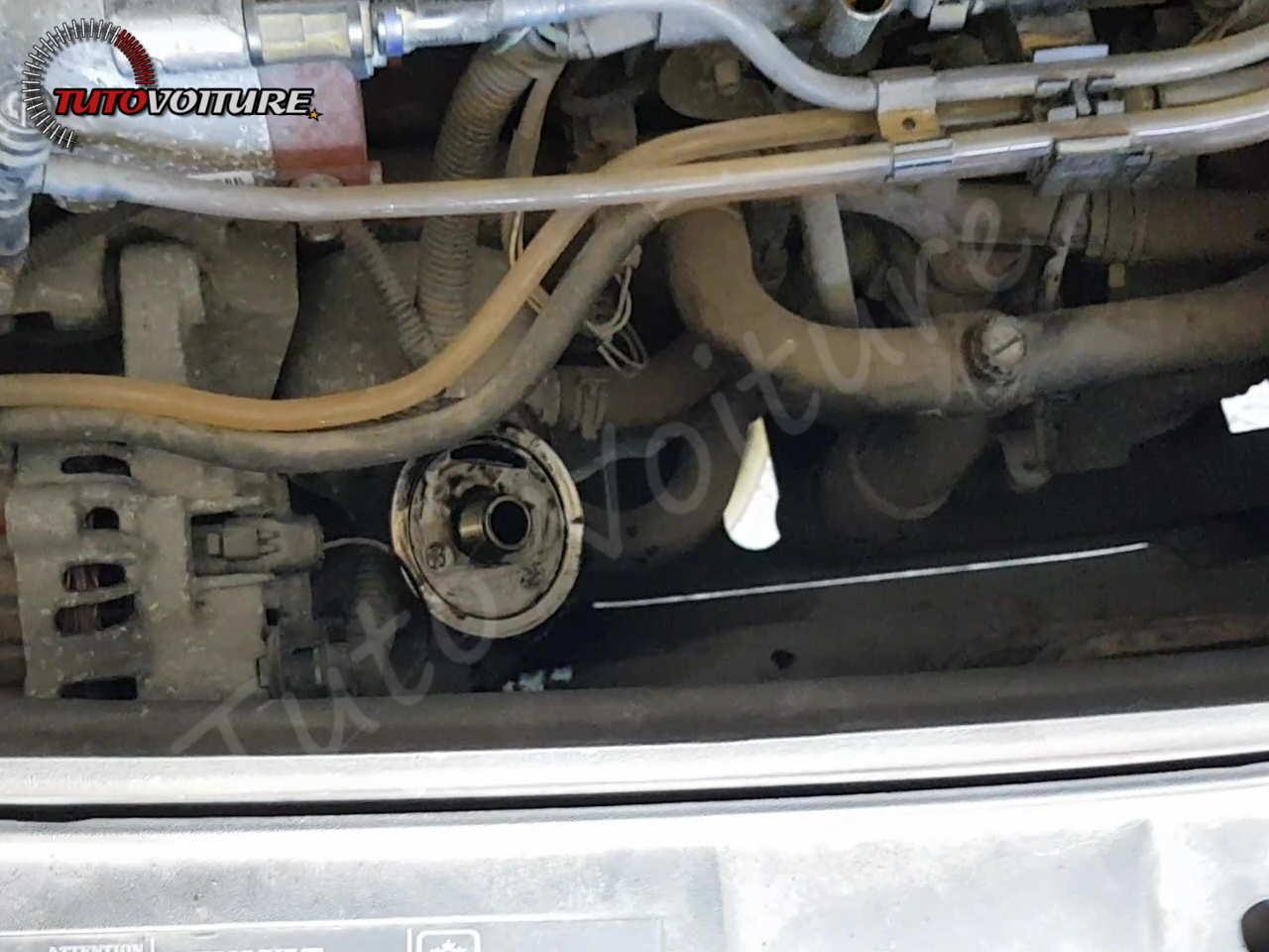 Localisation filtre à huile - Renault Clio 2