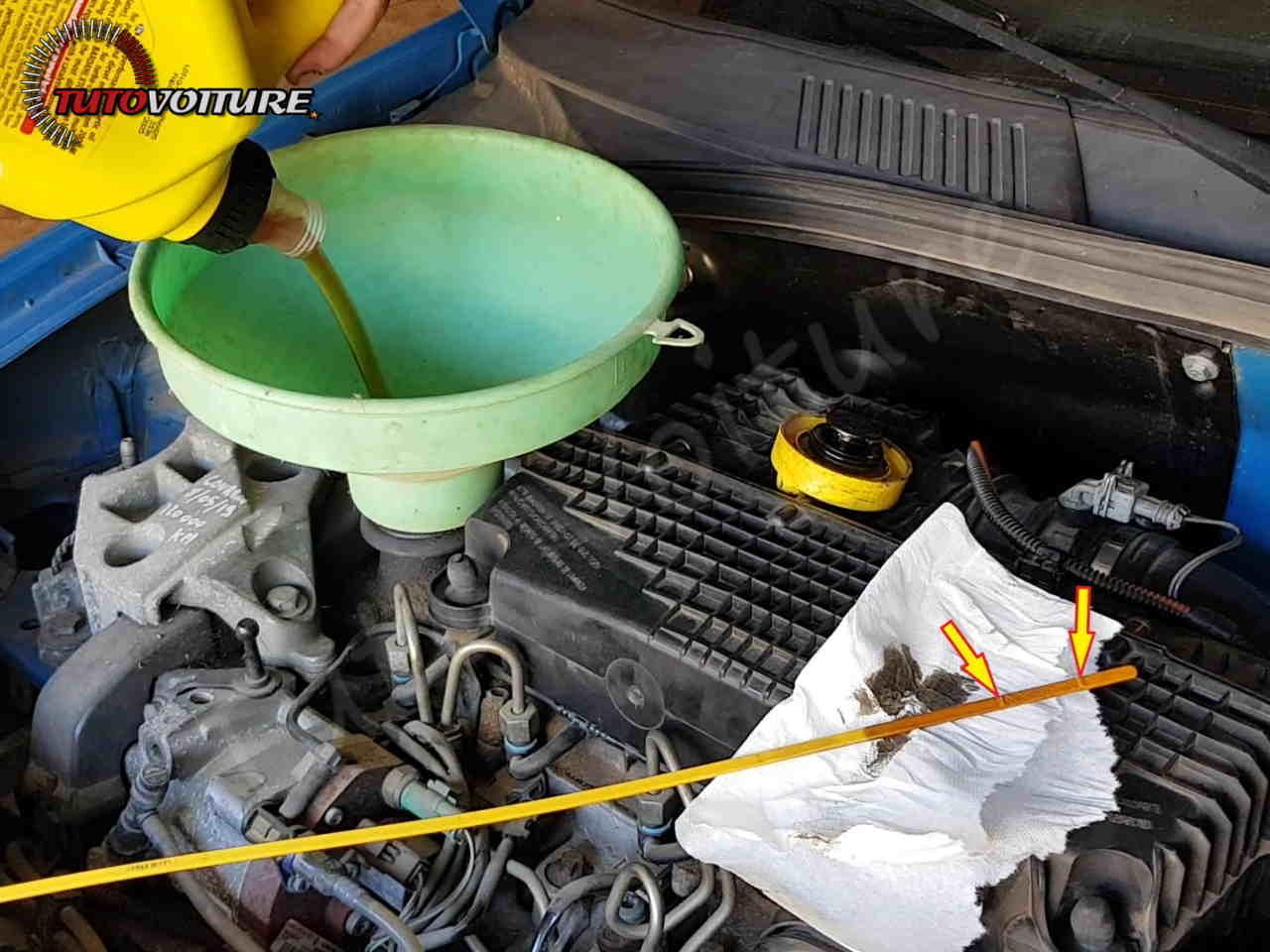 Mise à niveau d'huile - Renault Clio 2