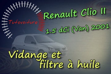 effectuer sa vidange Renault Clio 2