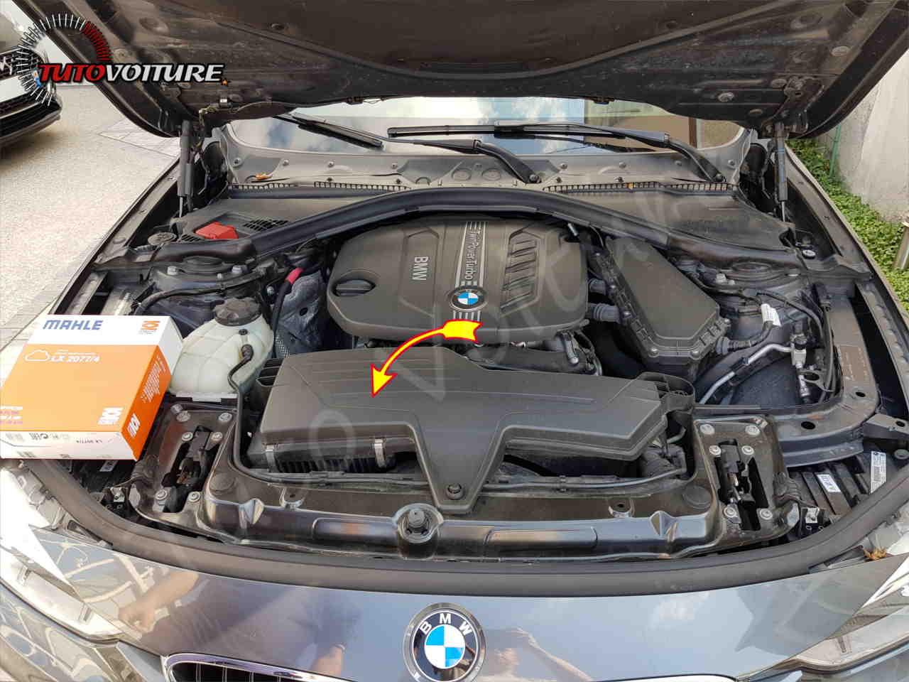 Localiser le filtre à air bmw série 3 F30