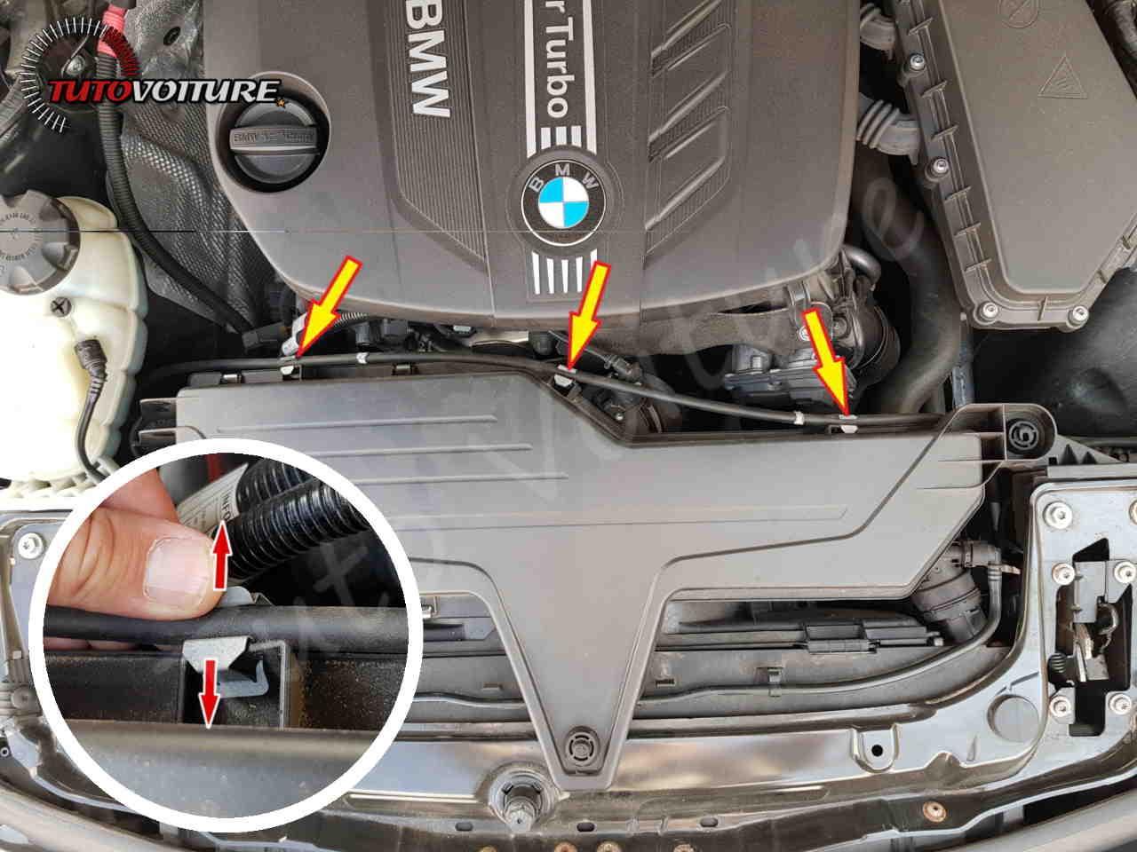 Fixation de la boite à air BMW série 3 F30