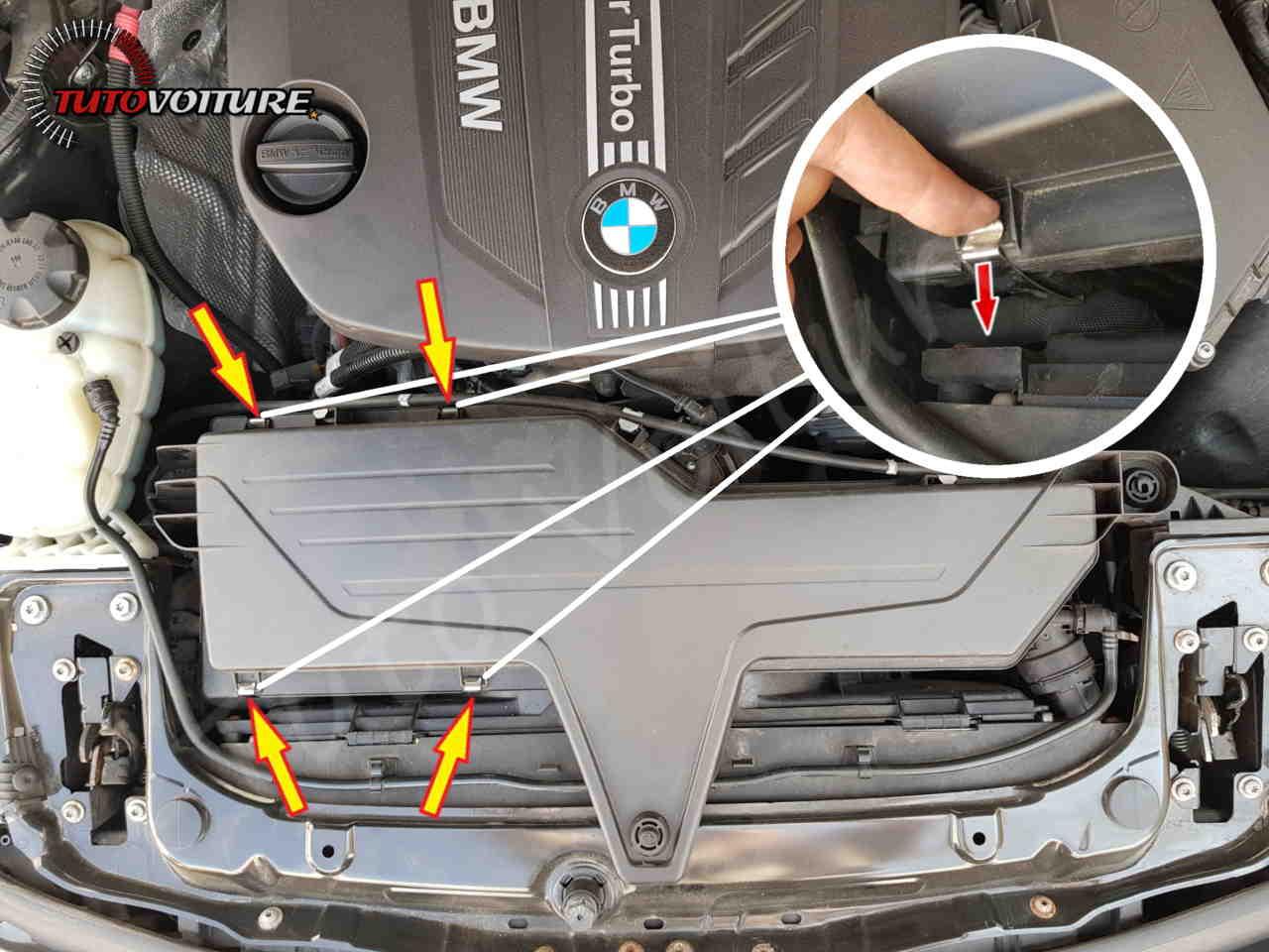 Remplacement du filtre a air bmw serie 3 F30