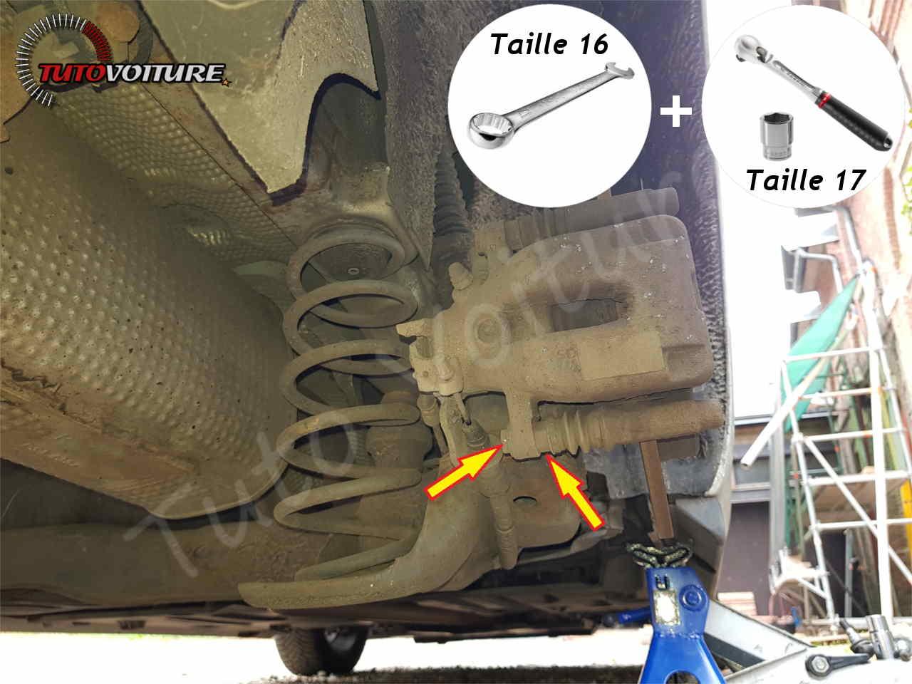 Changer les plaquettes de frein arrière DS3