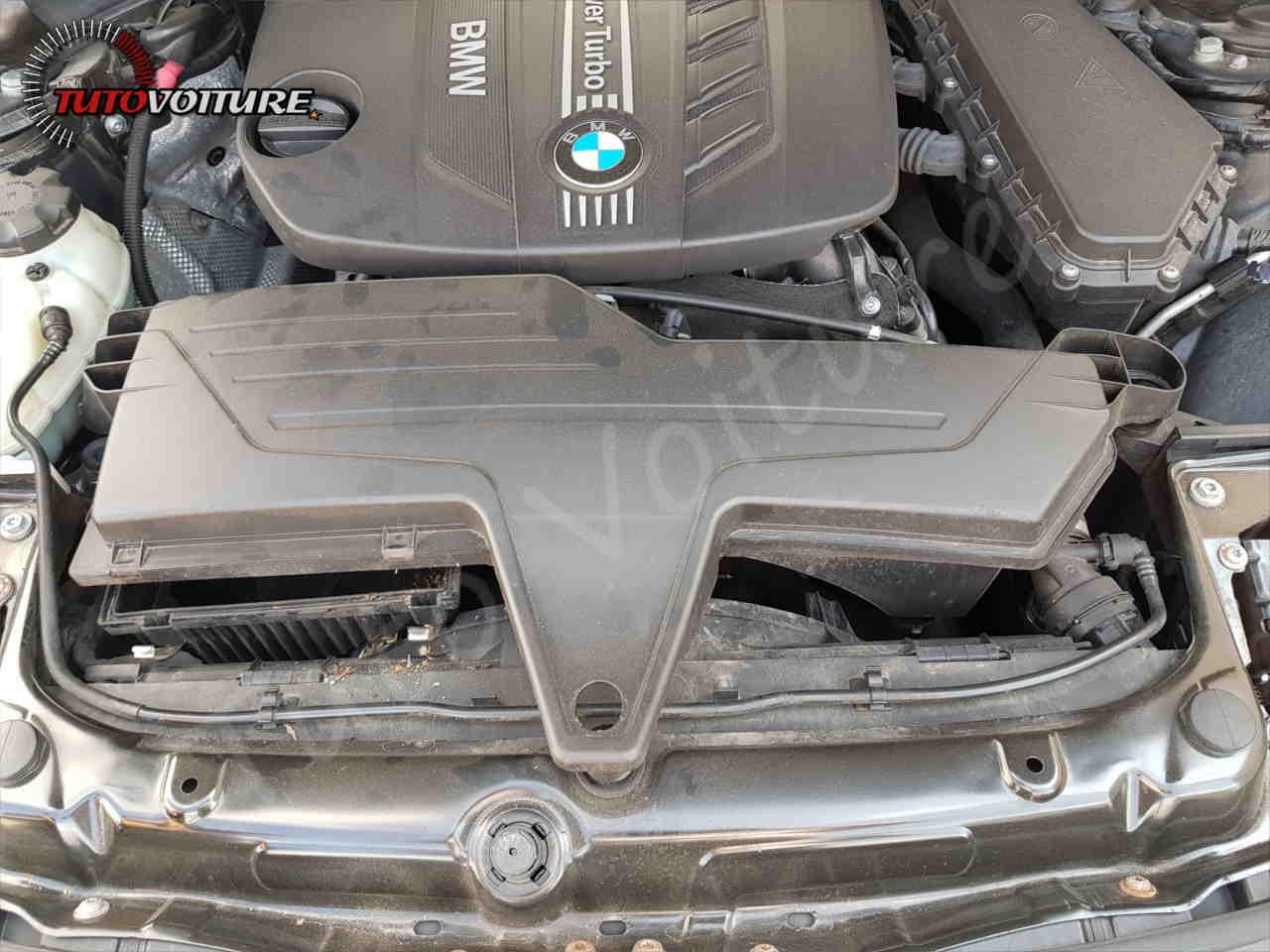 Emplacement du filtre à air BMW serie 3