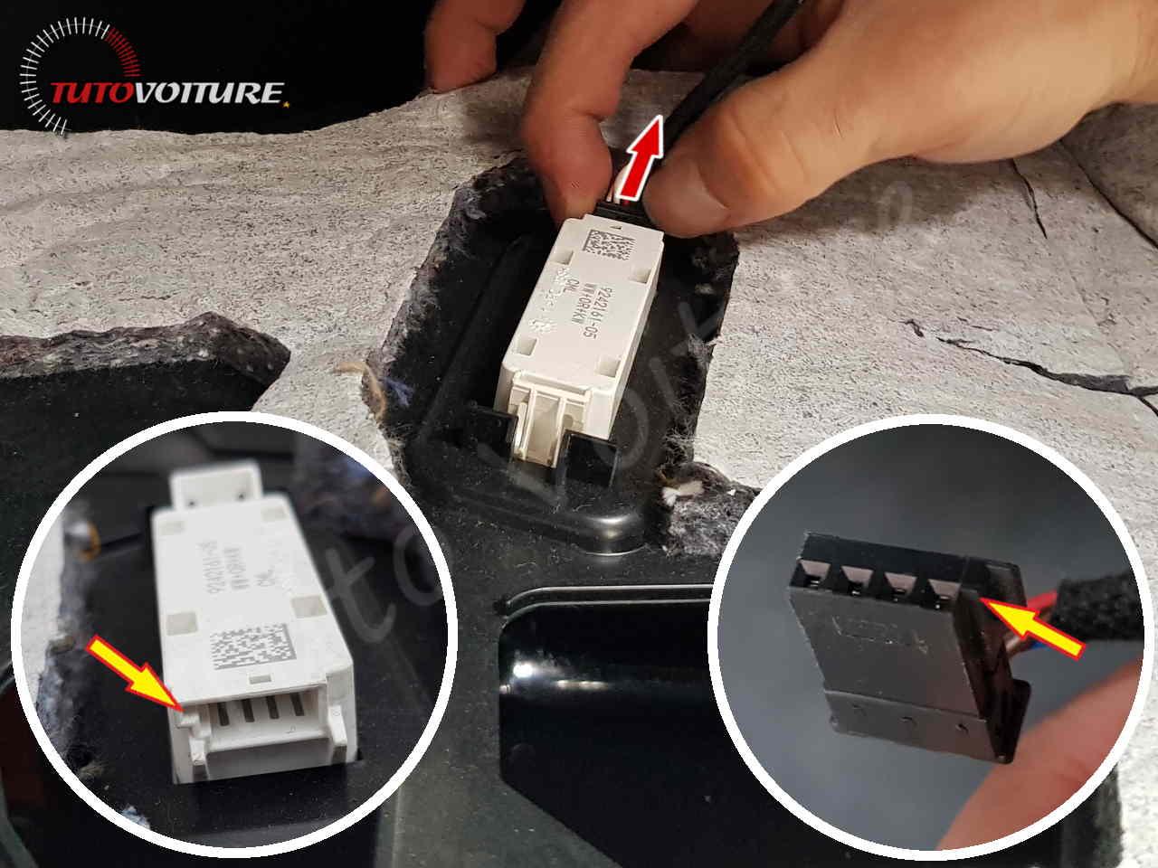 Connectique lumière sol boite à gants bmw serie 3 - F30