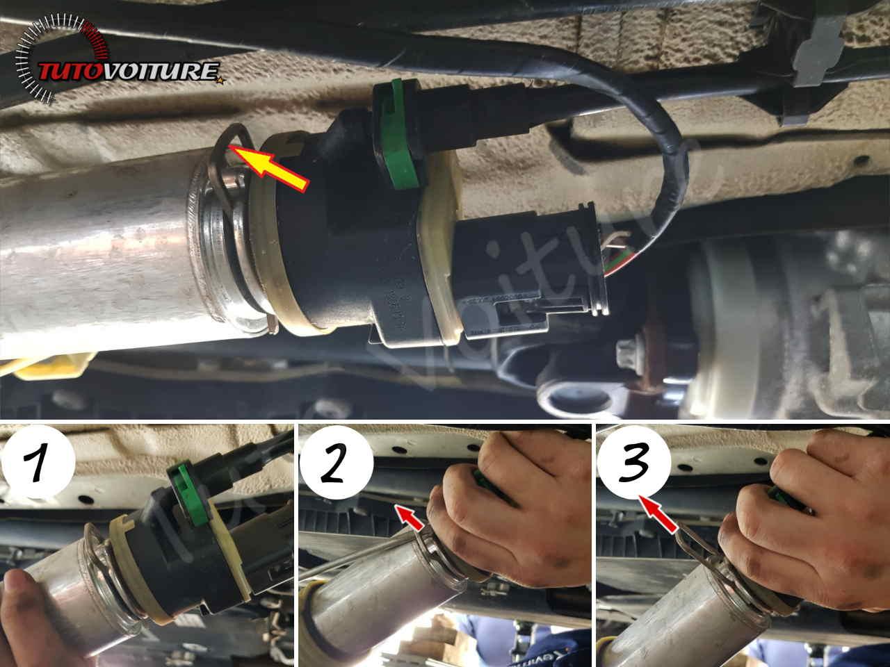 Emplacement du filtre à gazole BMW serie 3