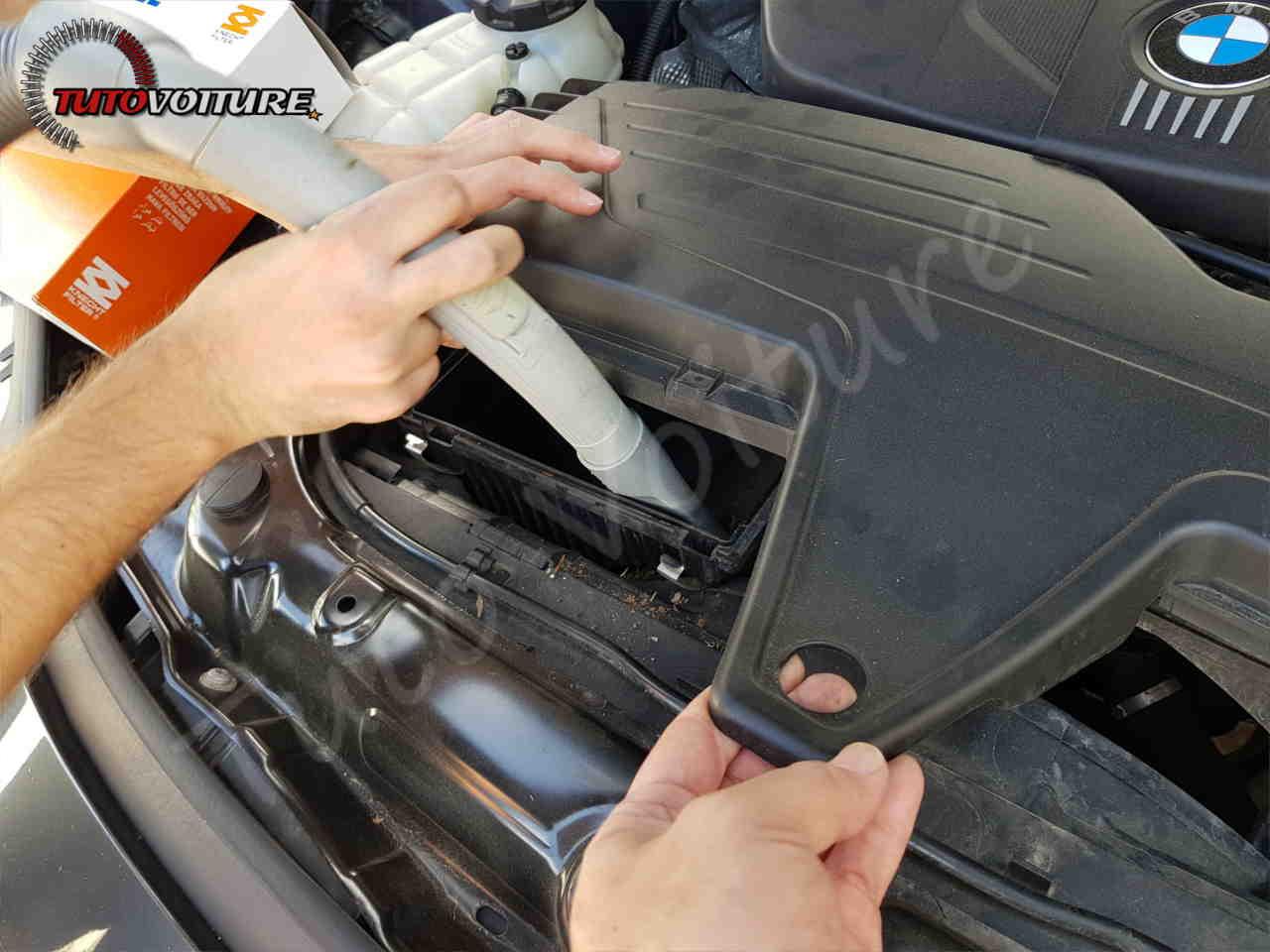 Nettoyage du boitier de filtre à air bmw serie 3 F30
