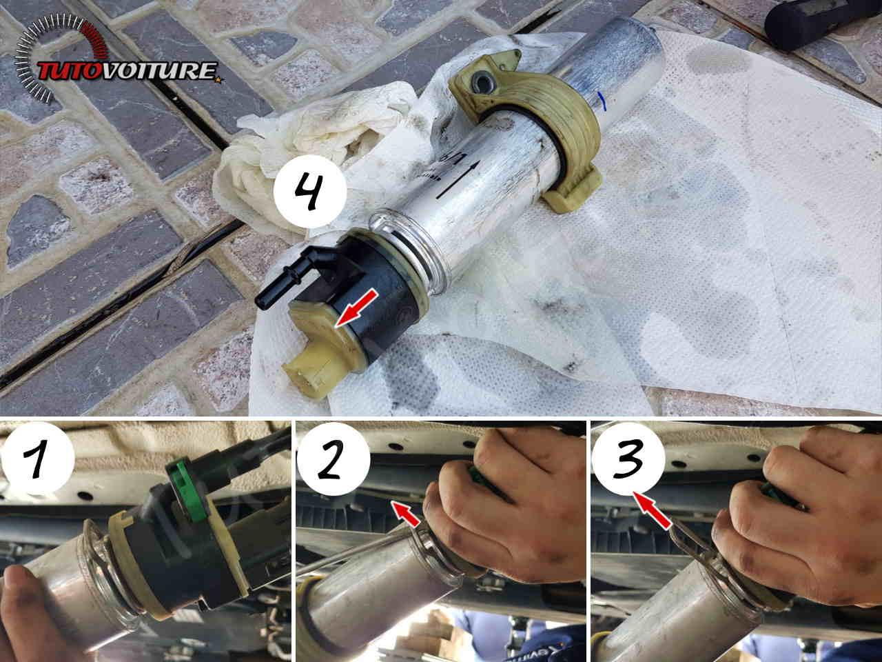 Dépose filtre à carburant bmw série 3 f30