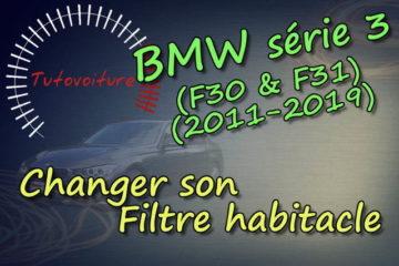 Comment changer filtre habitacle BMW série 3 F30