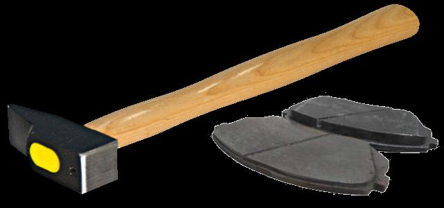 Comment repousser un piston de frein avec un marteau