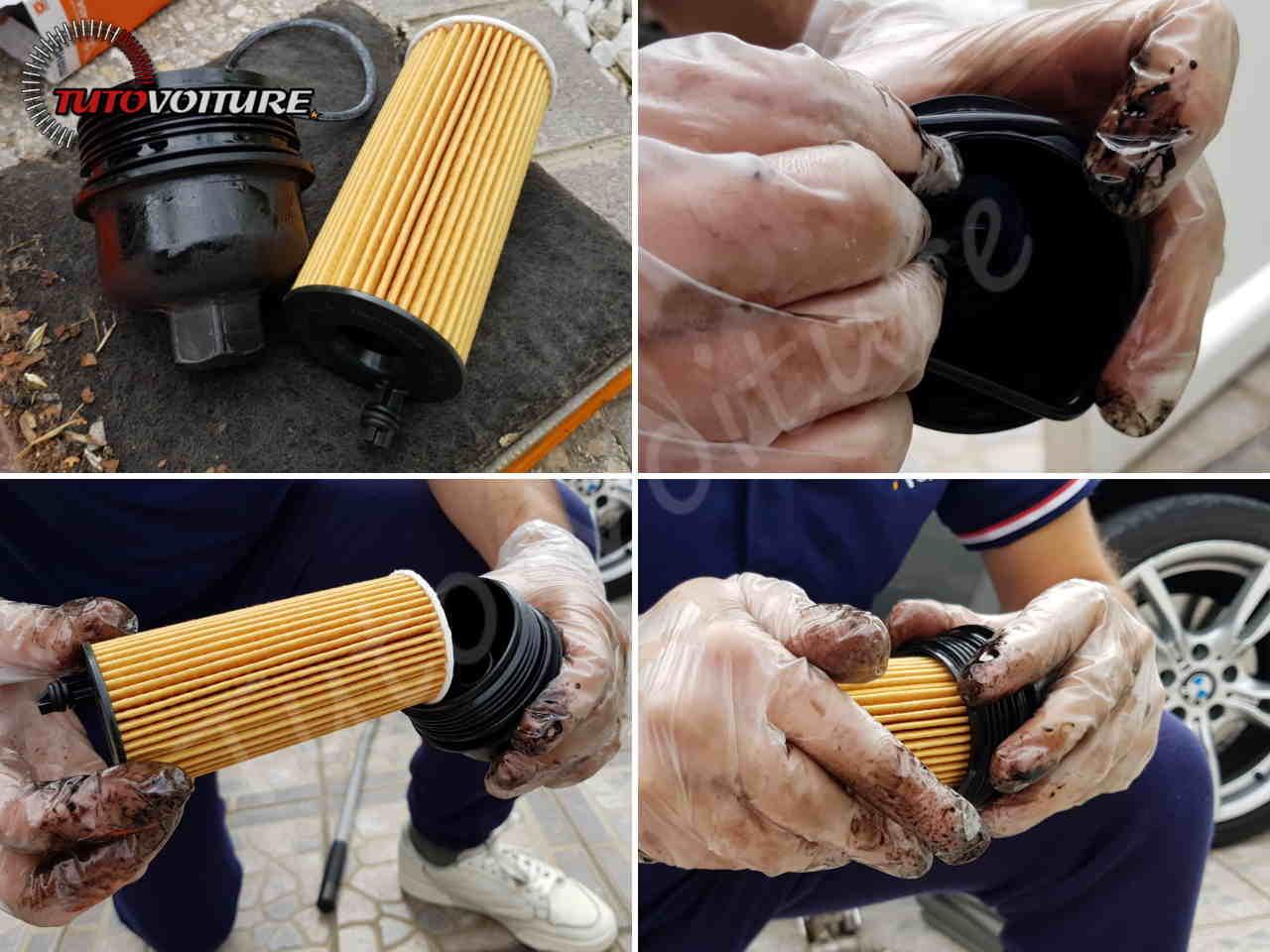 Assembler le nouveau filtre