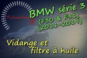 Tutoriel pour faire sa vidange et changer son filtre à huile : BMW série 3 F31/F31