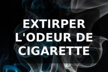 Retirer l'odeur de cigarette