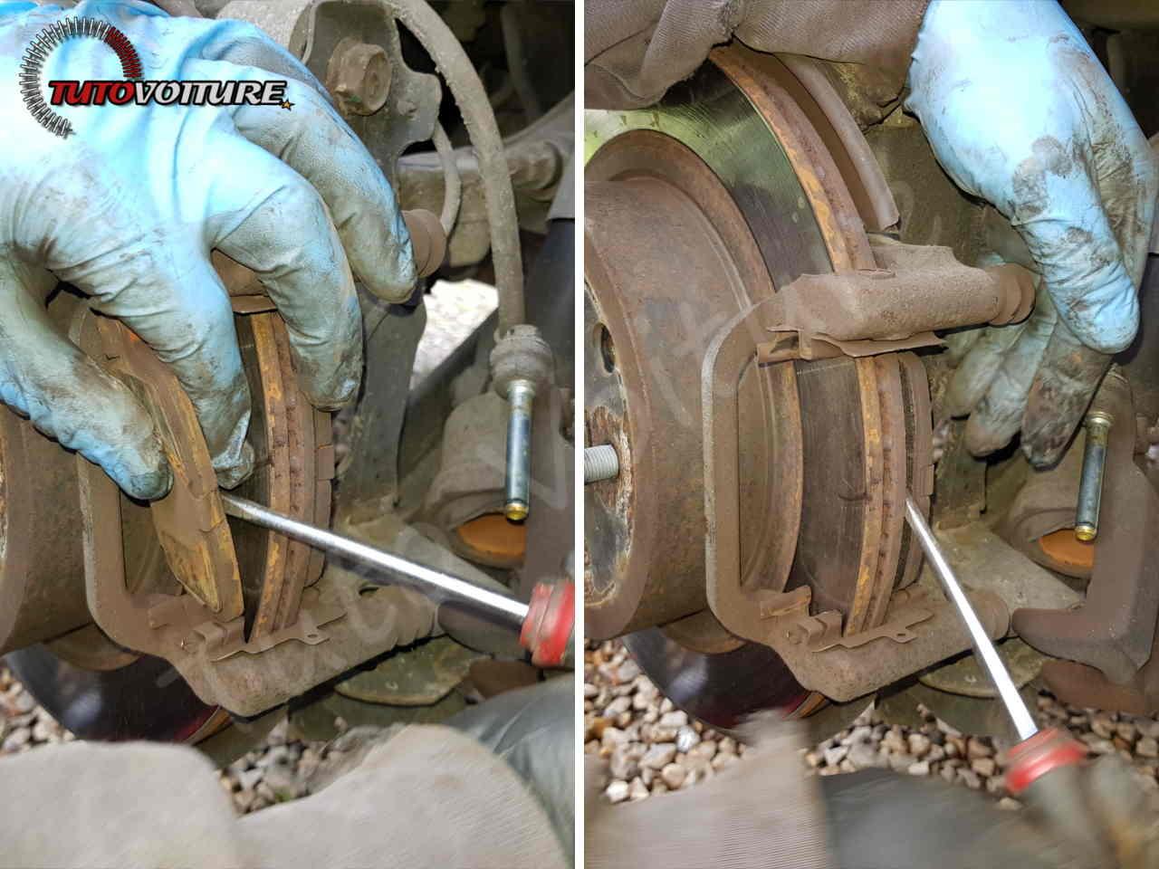 Retirer les plaquettes de frein Renault Koleos
