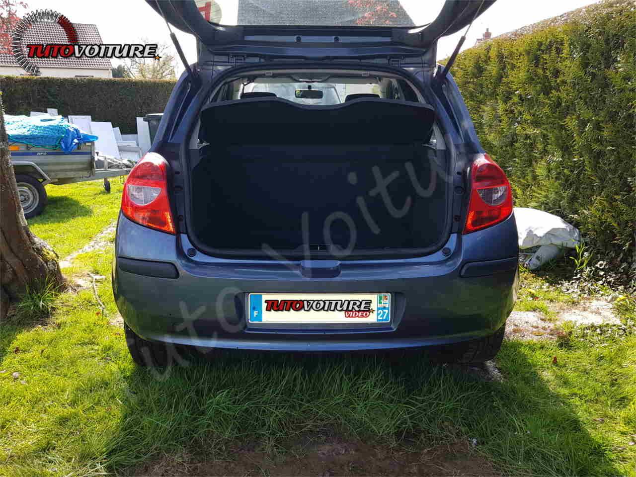 Ouvrir le coffre Renault Clio 3