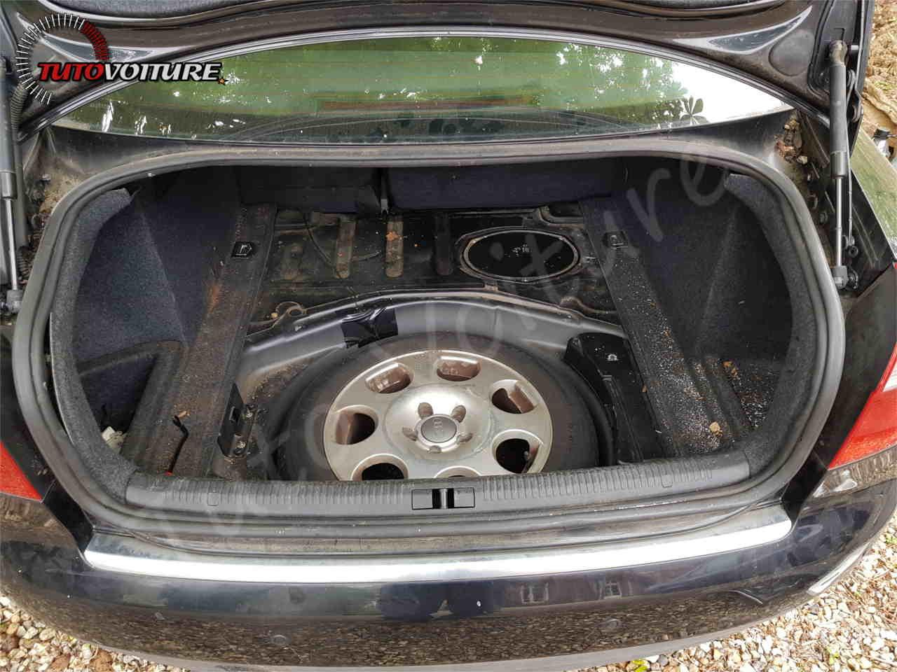 Emplacement de la roue de secours Audi A4 B6