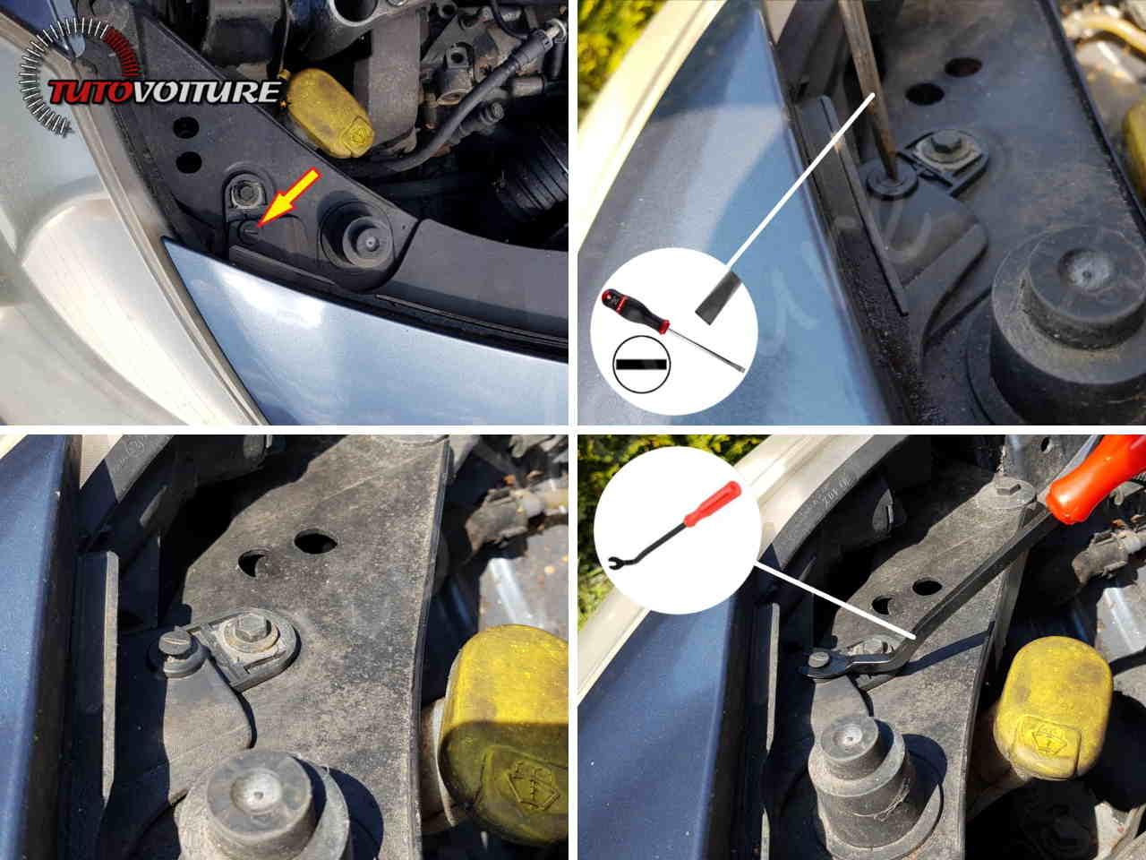 Attaches du pare-chocs avant Renault Clio 3