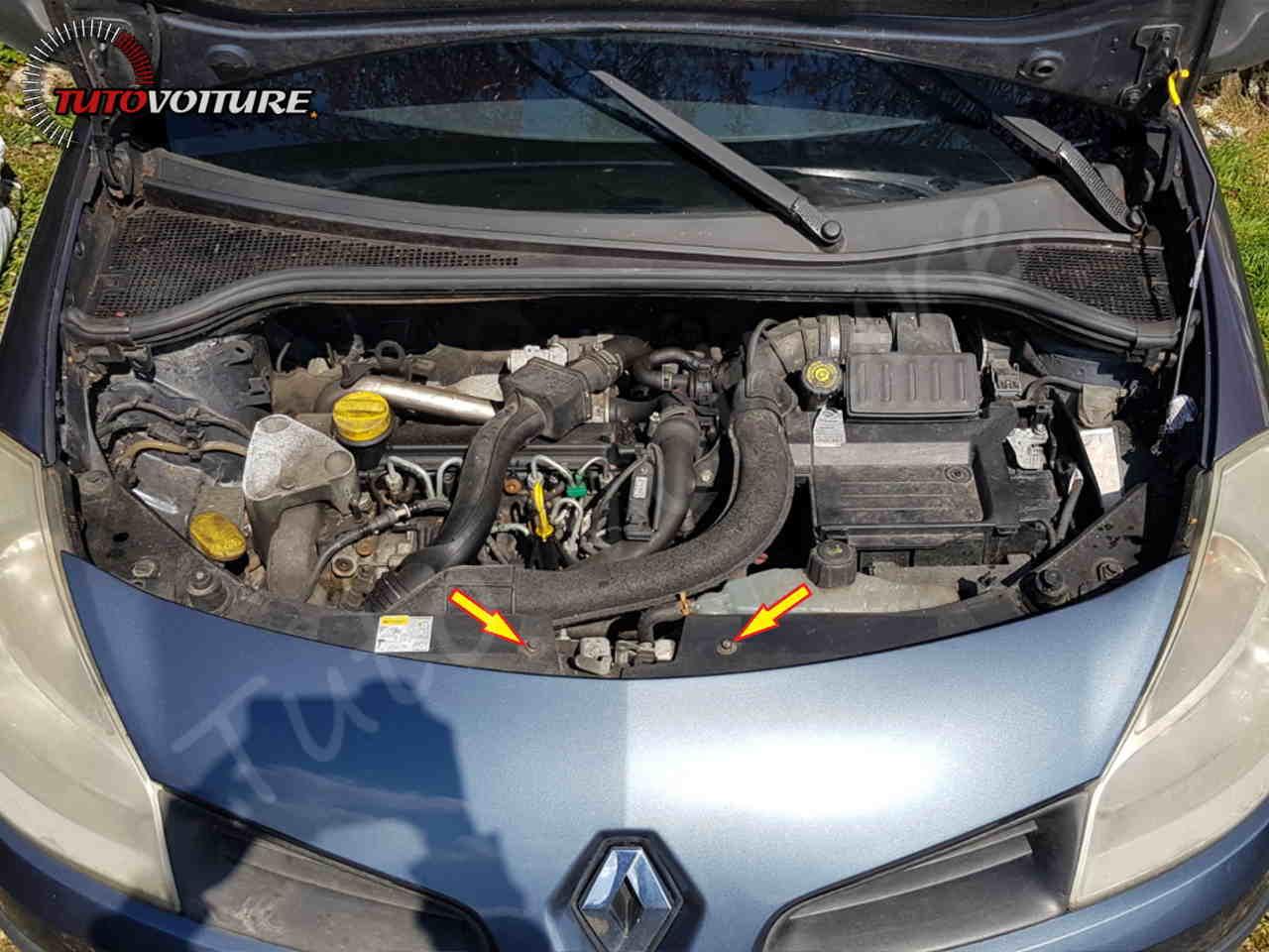 Retirer le pare-chocs avant Renault Clio 3