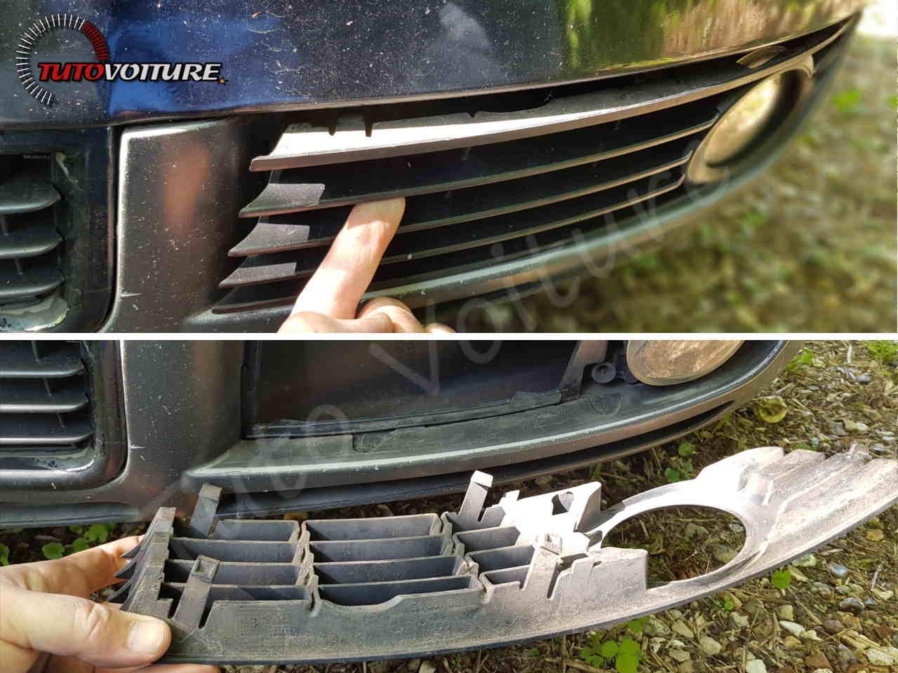Retirer les grilles Audi A4 B6