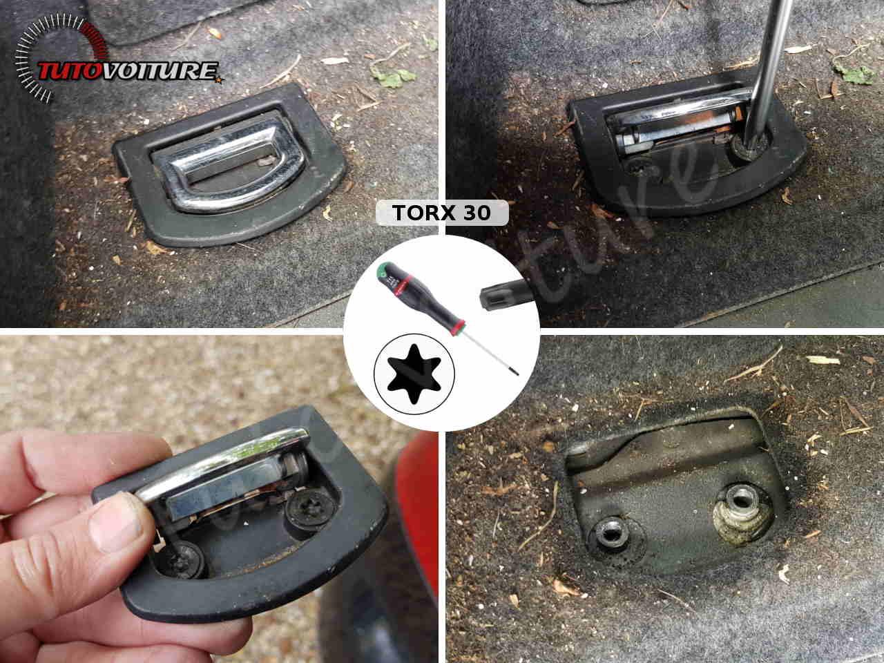 Comment enlever les anneaux d'ancrage de coffre Audi A4 B6