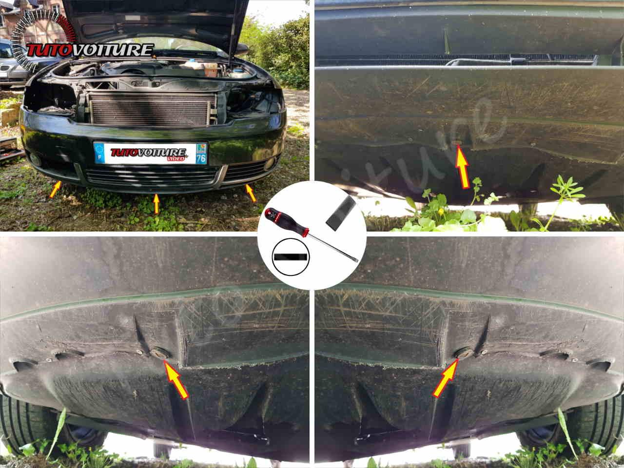 Fixation sous le pare-chocs Audi A4 B6