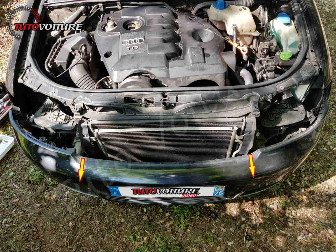 Retirer le pare-chocs Audi A4 B6