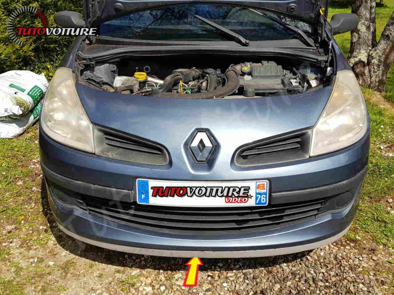 Trouver les vis du pare-chocs avant Renault Clio 3