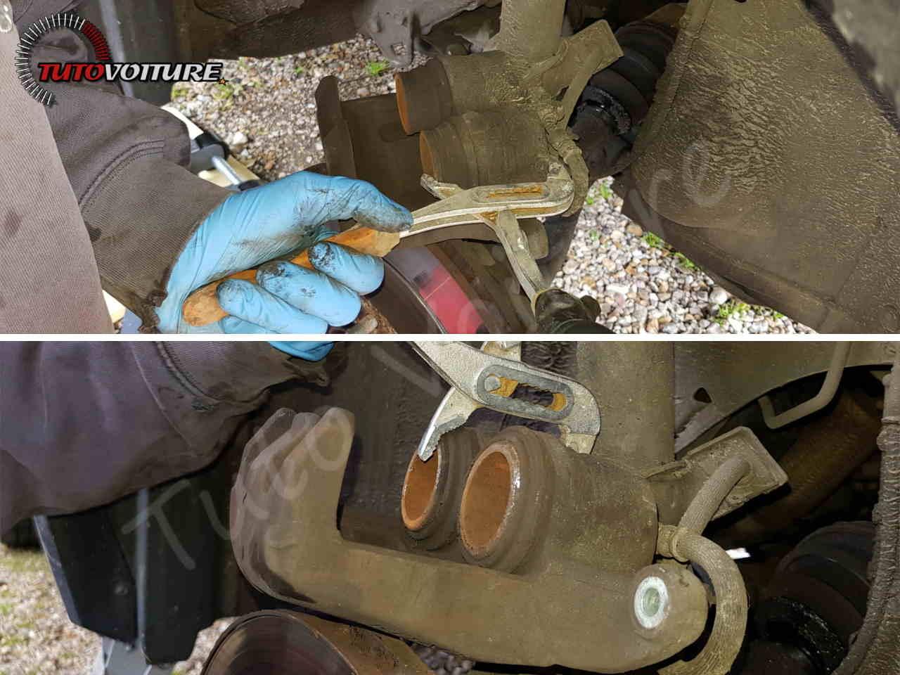 Rentrer les pistons de frein Renault Koleos