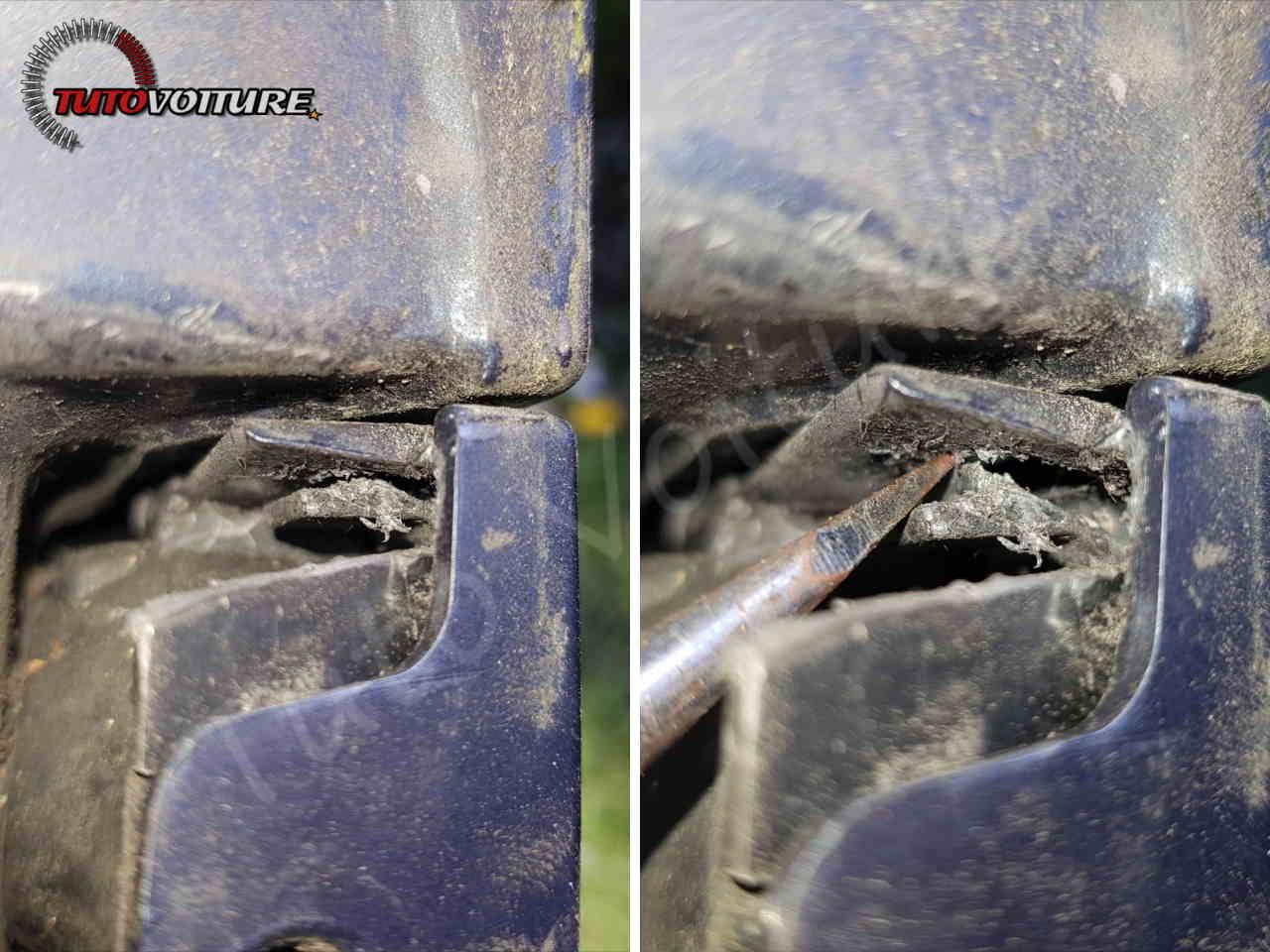 Maintien du pare-choc arrière Renault Clio 3