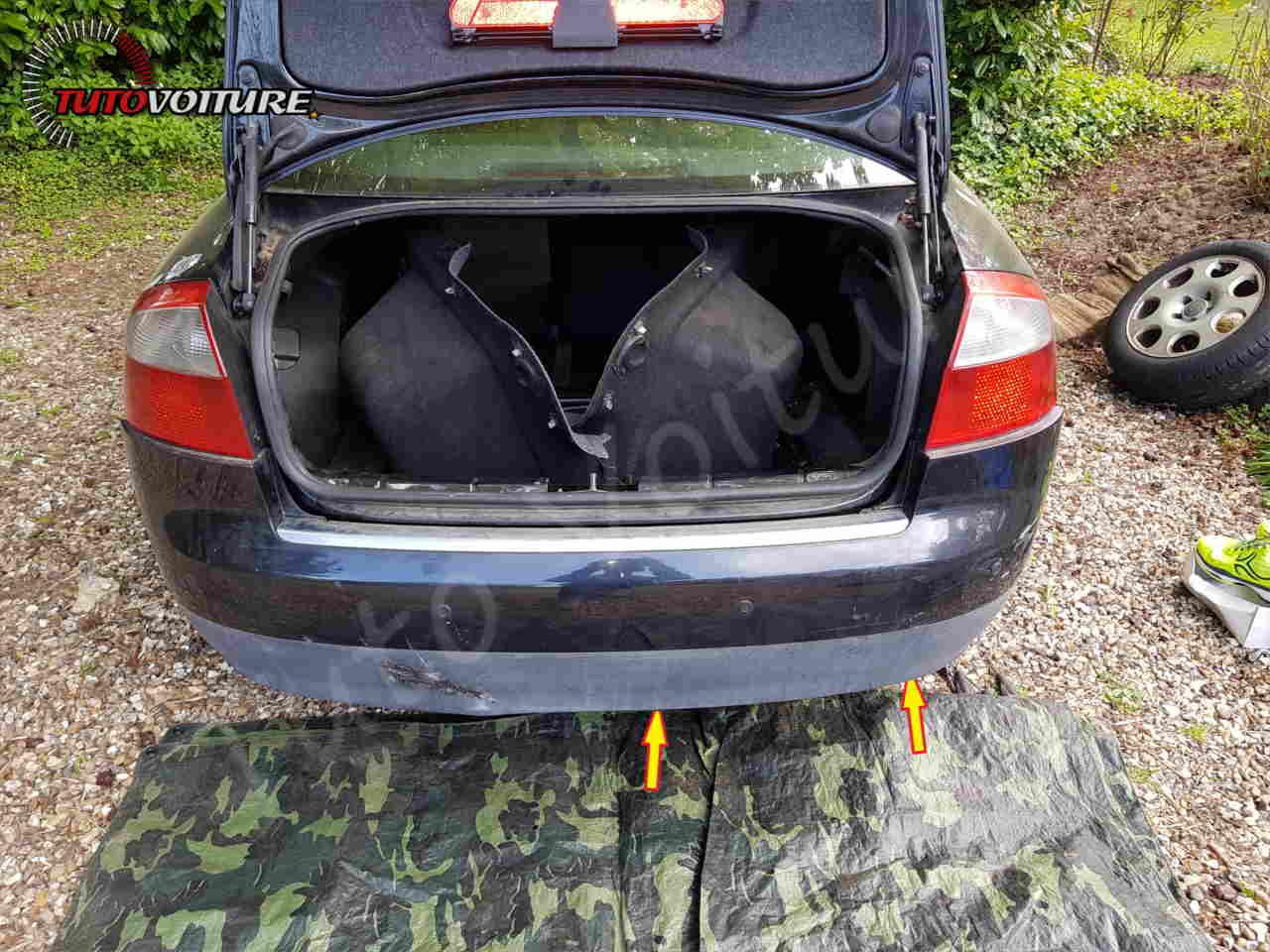Fixation du bas du pare-chocs Audi A4 B6