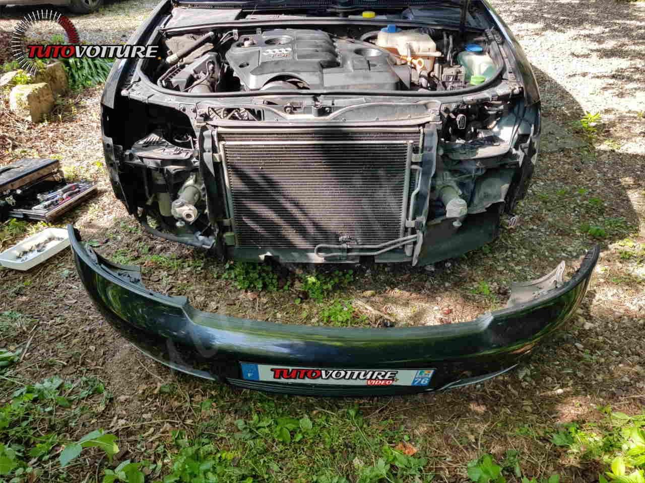 Décrocher le pare-chocs Audi A4 B6