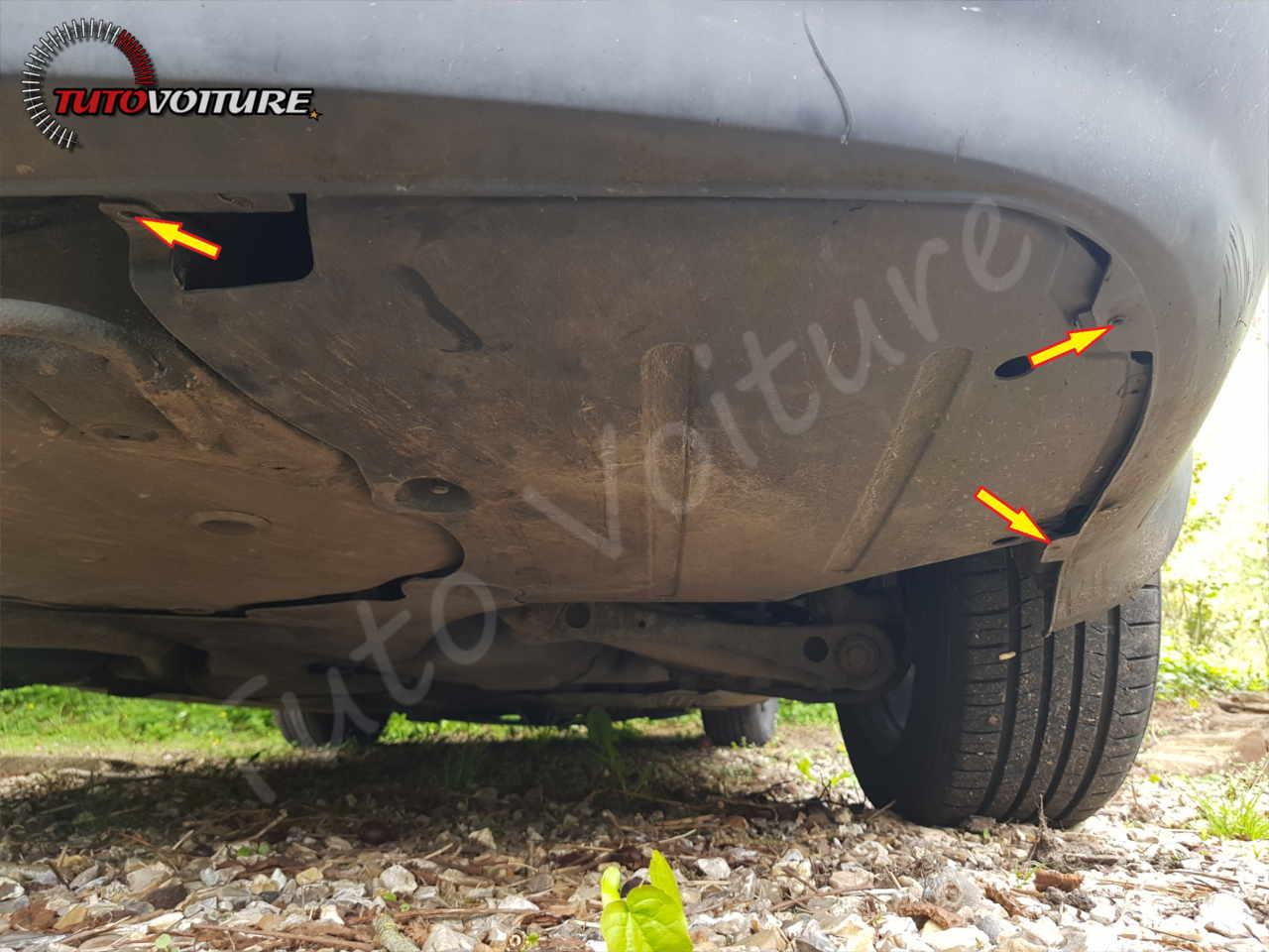 Vis du bas du pare-chocs Audi A4 B6