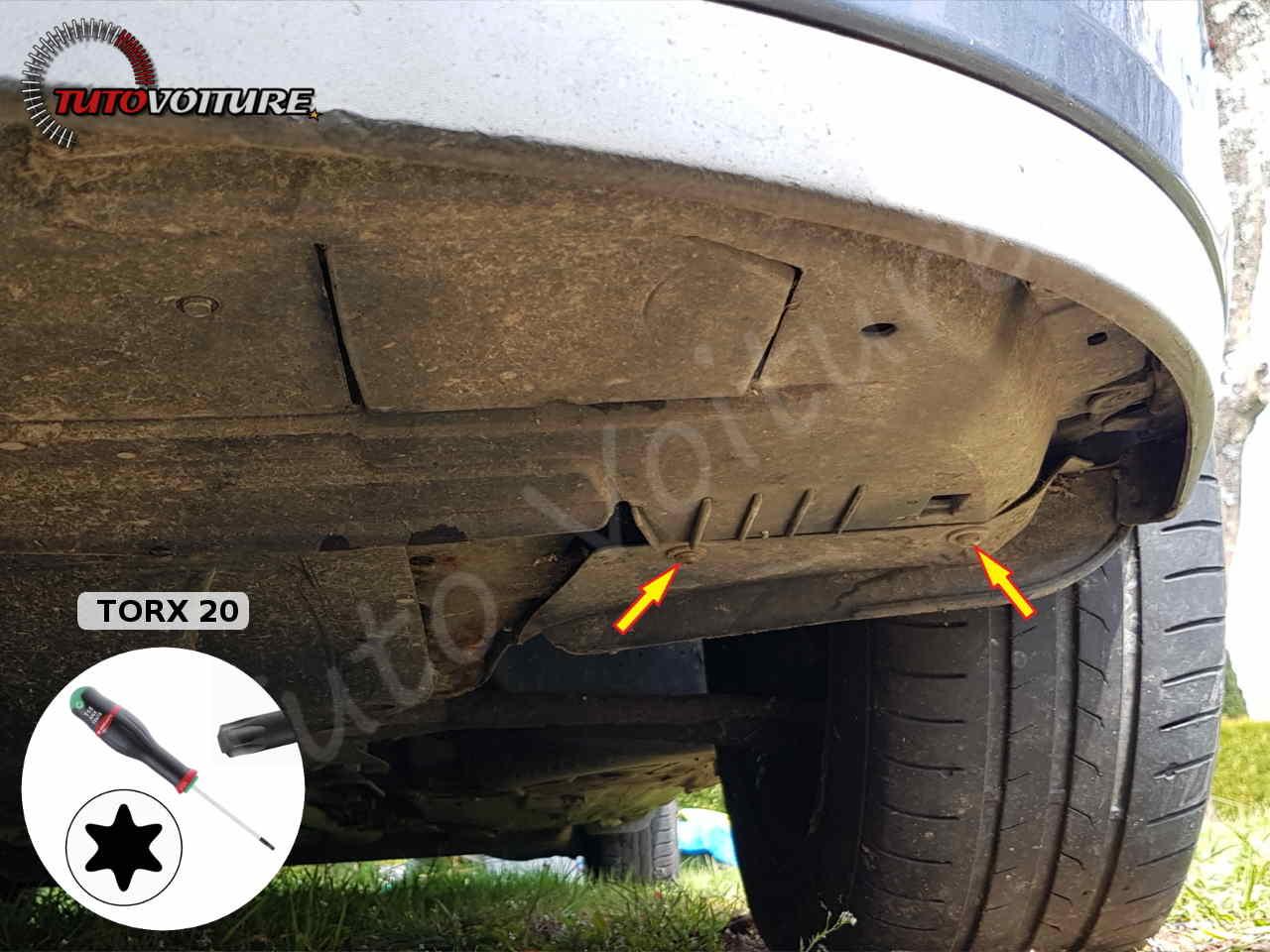 Libérer le pare-chocs avant Renault Clio 3