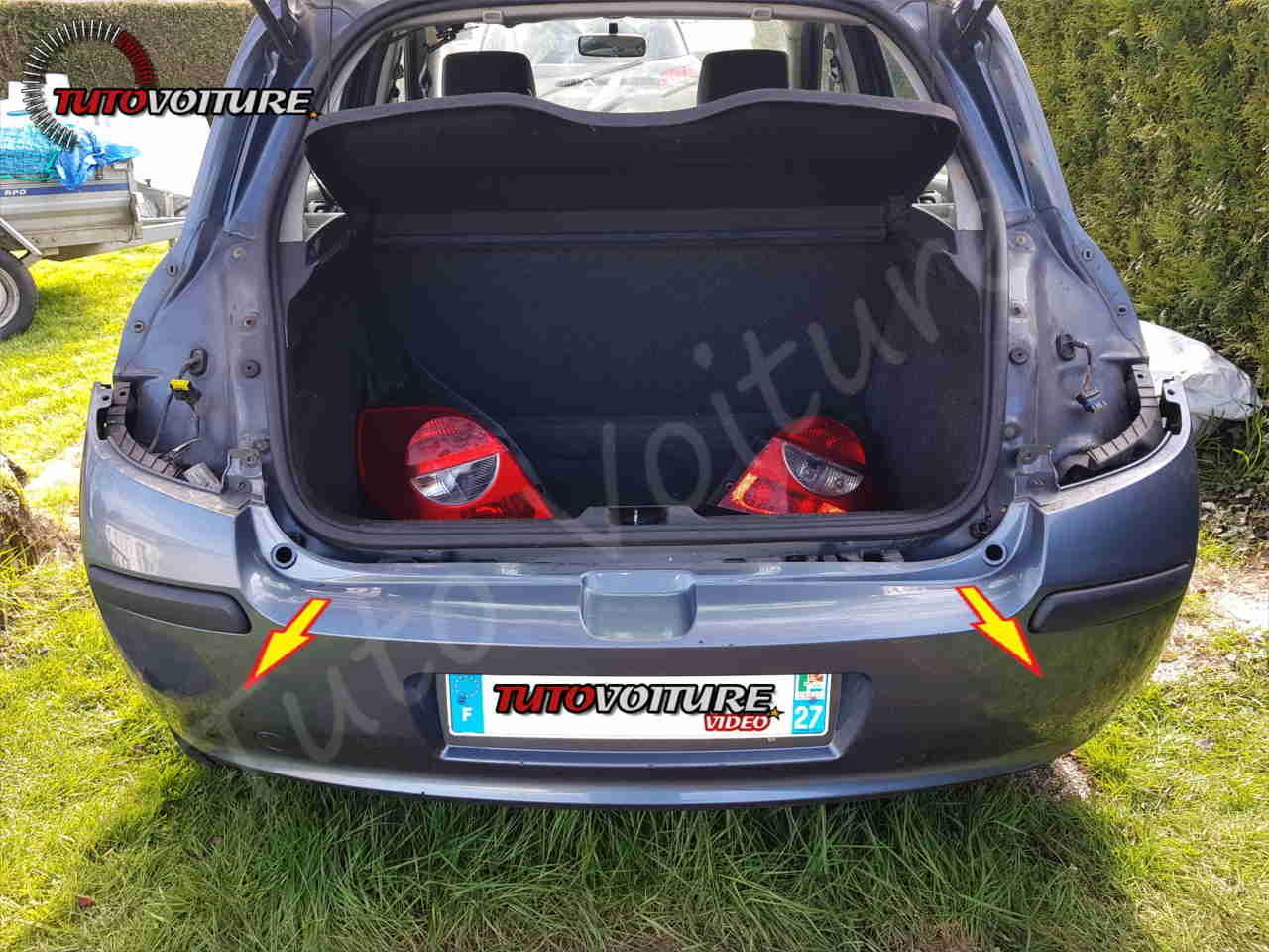 Démonter le parechoc arrière Renault Clio 3