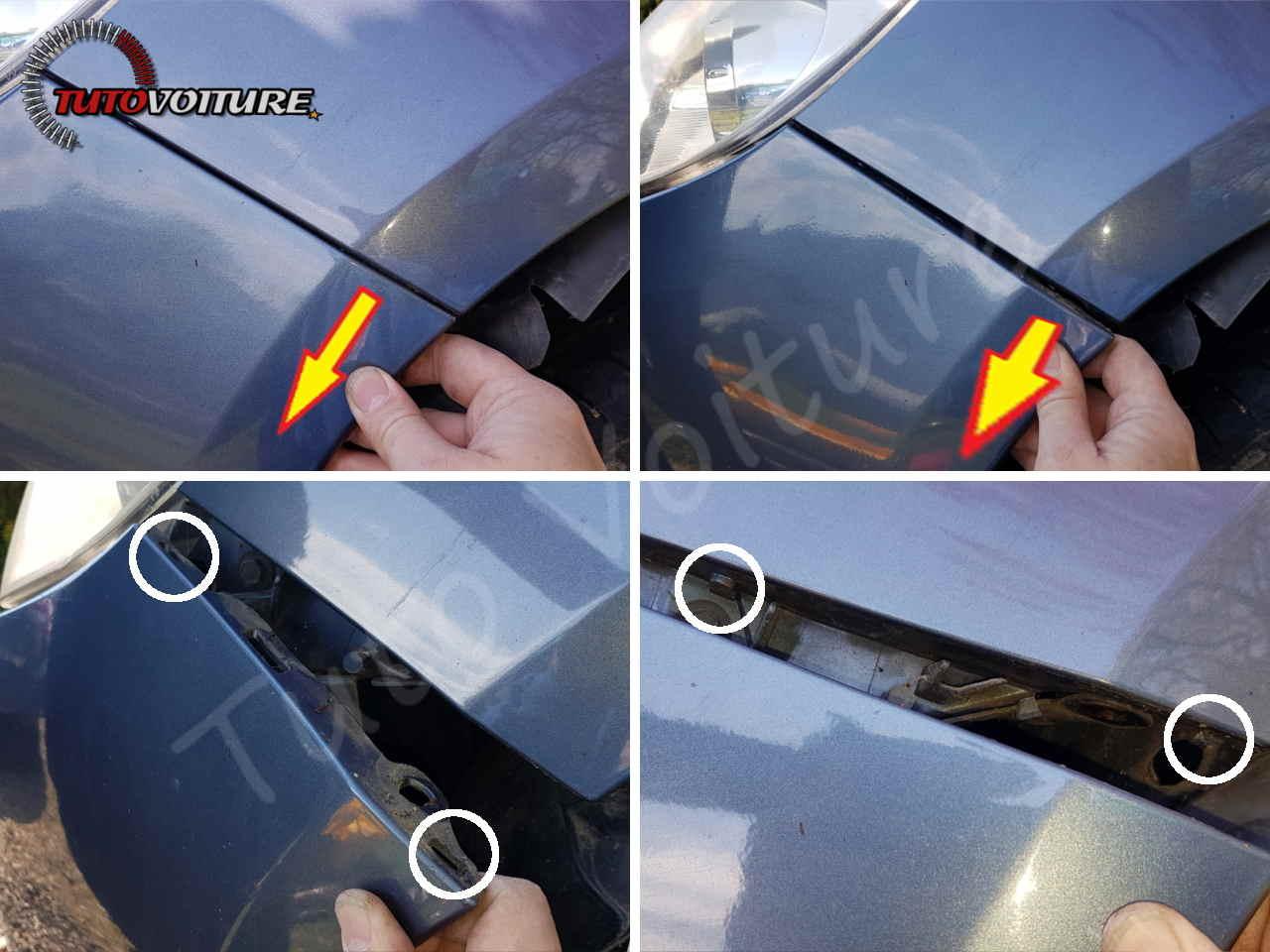 Déboîter le pare-chocs avant Renault Clio 3