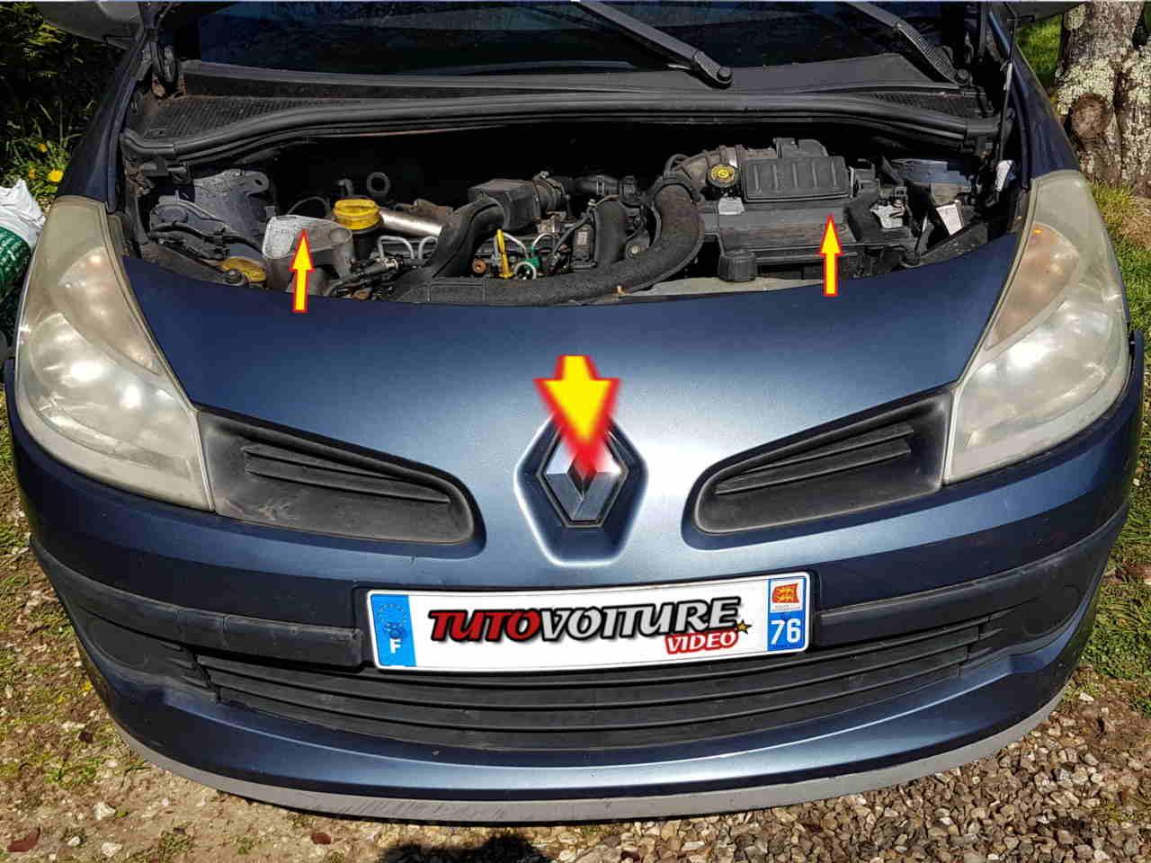 Retirer le pare-chocs Renault Clio 3