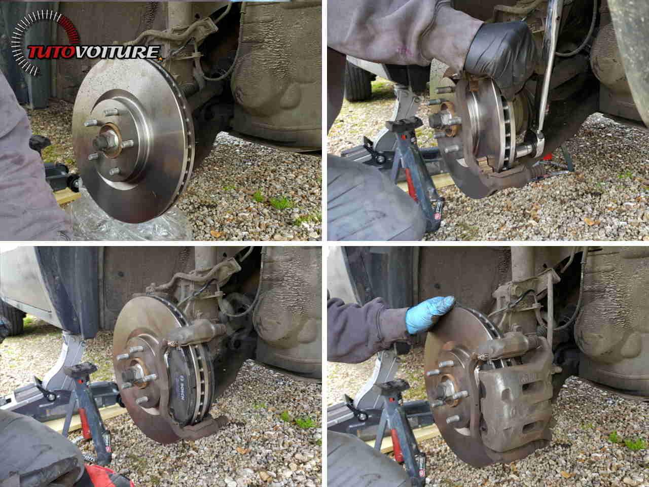 Retirer l'étrier de frein Renault Koleos