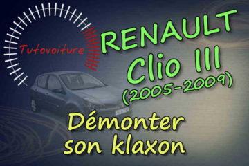 Comment remplacer son klaxon Renault Clio 3