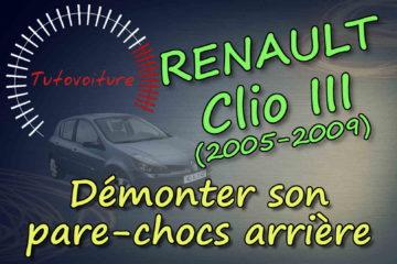 Démonter le phare avant Renault Clio 3