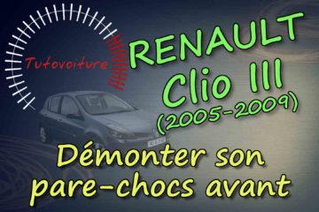 Démonter le bouclier avant Renault Clio 3