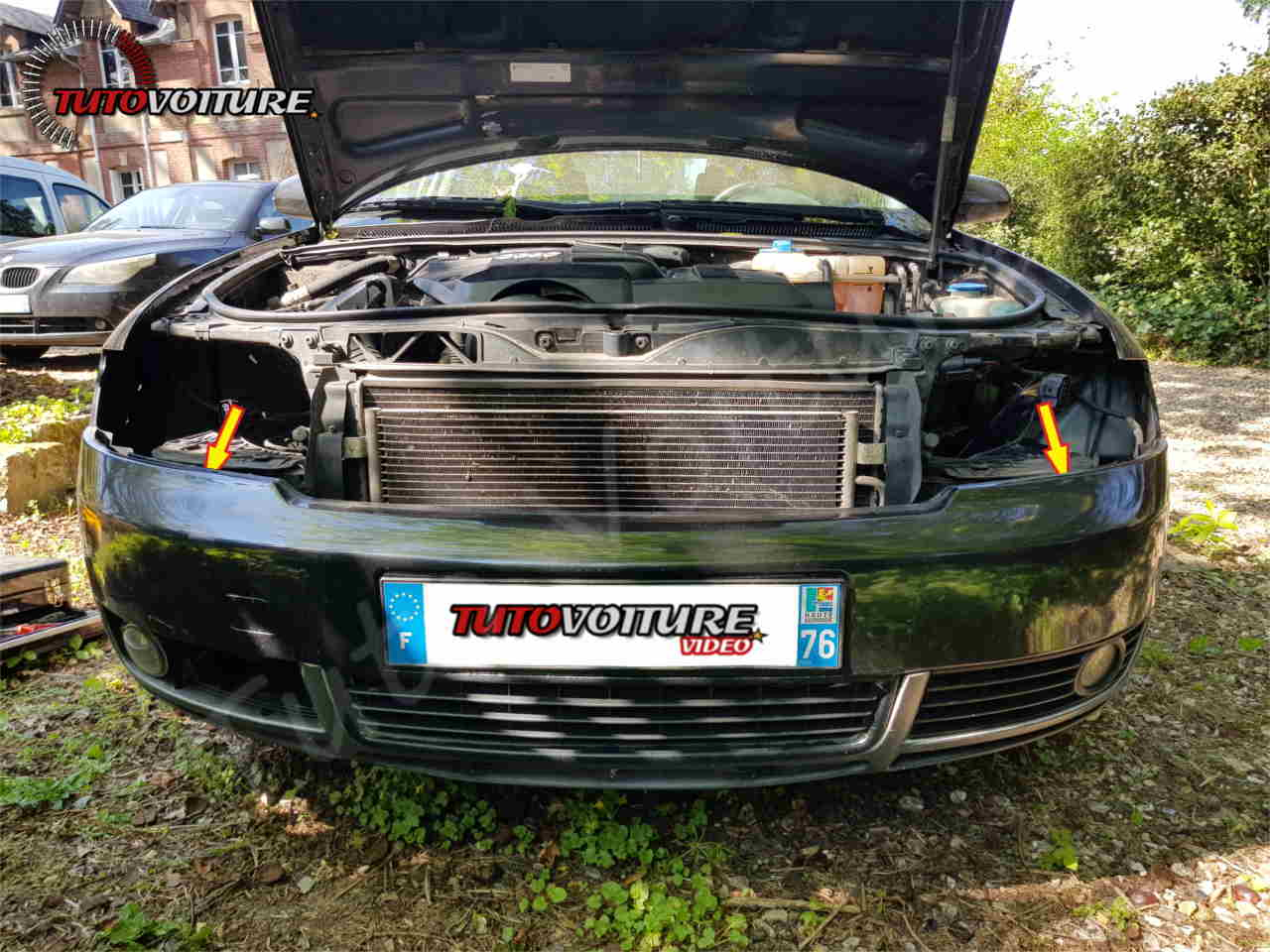 Emplacement des klaxons Audi A4 B6