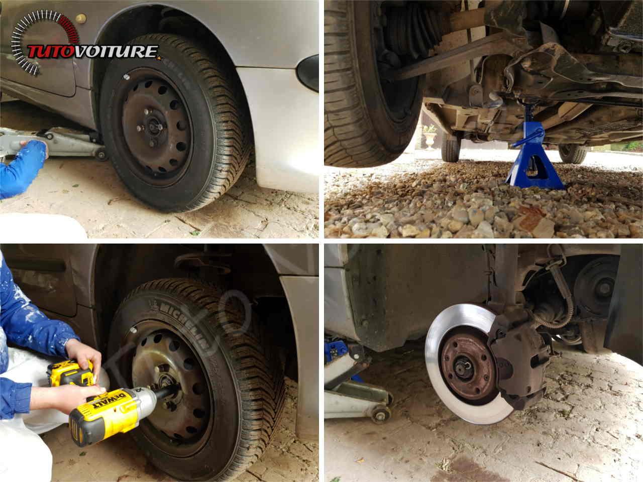 Comment changer ses disques et plaquettes de frein avant Peugeot 206