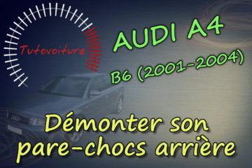 tuto démonter le pare-chocs arrière Audi A4 b6