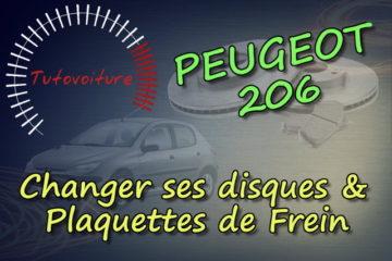 Tutoriel changer ses disques et plaquettes de frein avant Peugeot 206