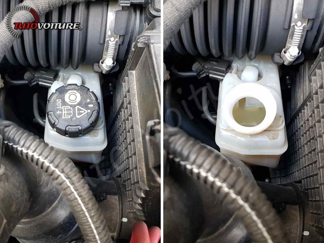 Ouvrir le bocal de liquide de frein