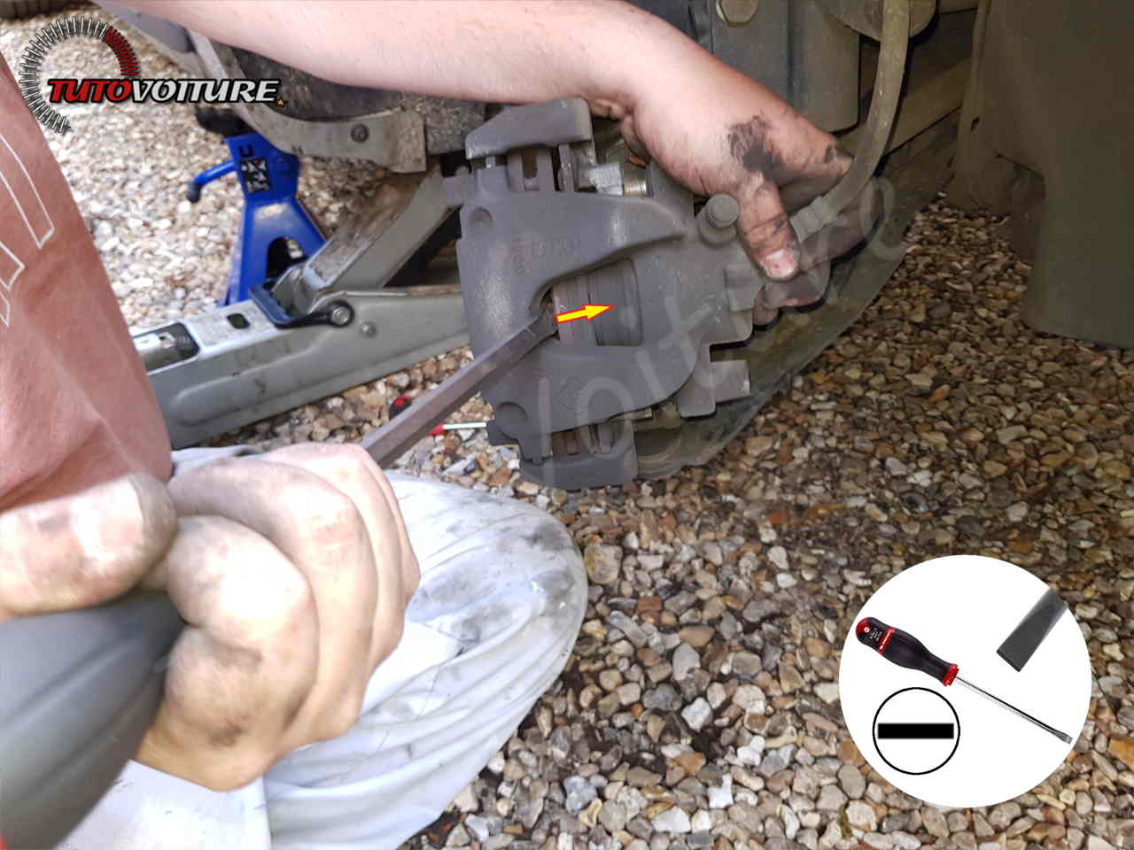 Repousser le piston de frein clio 4