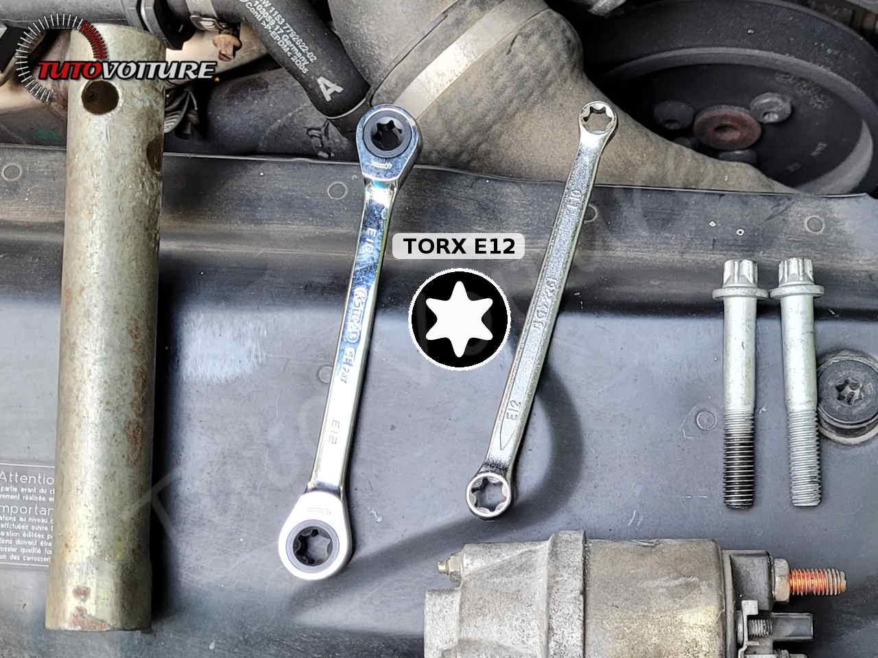 outils pour démonter le demarrage bmw E60